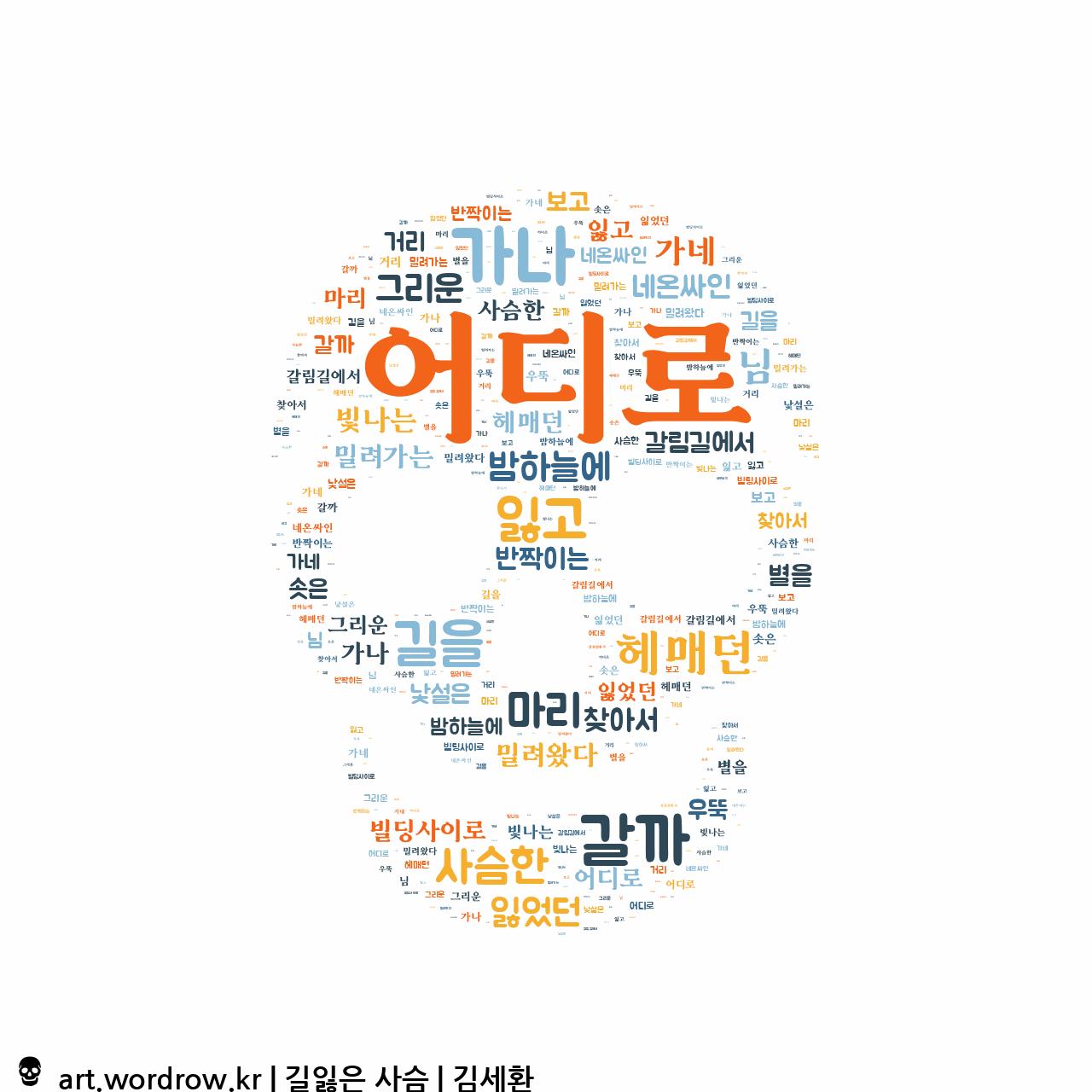 워드 아트: 길잃은 사슴 [김세환]-49